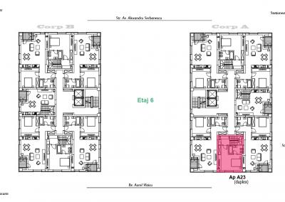corp A - apartament 23 - etaj 6 DUPLEX - aviatoriiresidence.ro 2D