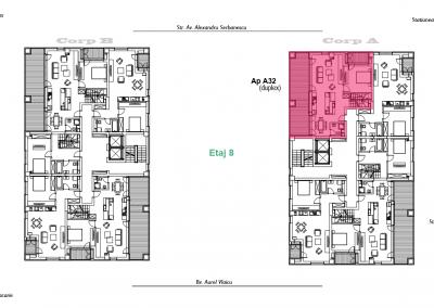 corp A - apartament 32 - etaj 8 DUPLEX - aviatoriiresidence.ro 2D