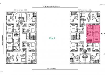 corp A - apartament 8 - etaj 2 DUPLEX - aviatoriiresidence.ro 2D
