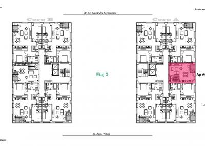 corp A - apartament 8 - etaj 3 DUPLEX - aviatoriiresidence.ro 2D