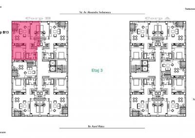 corp B - apartament 13 - aviatoriiresidence.ro 2D