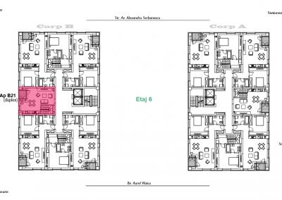 corp B - apartament 21 - etaj 6 DUPLEX - aviatoriiresidence.ro 2D