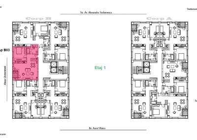 corp B - apartament 3 - aviatoriiresidence.ro 2D