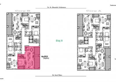 corp B - apartament 32 - etaj 8 DUPLEX - aviatoriiresidence.ro 2D