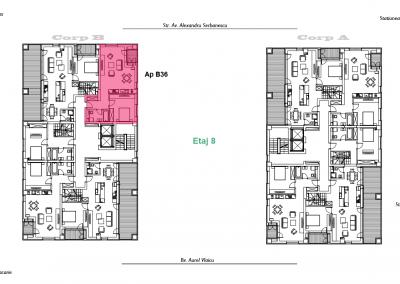 corp B - apartament 36 - etaj 8 DUPLEX - aviatoriiresidence.ro 2D