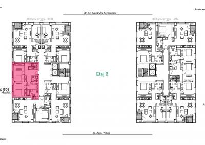 corp B - apartament 8 - etaj 2 DUPLEX - aviatoriiresidence.ro 2D