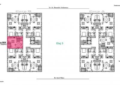 corp B - apartament 8 - etaj 3 DUPLEX - aviatoriiresidence.ro 2D