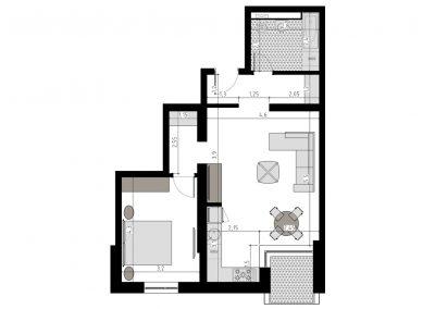 TIP 2B - apartament 2 camere - Aviatorii Residence II - p