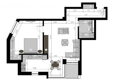 TIP 2C - apartament 2 camere - Aviatorii Residence II - p