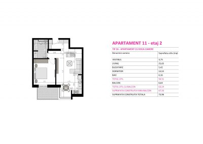Apartament 11 - Aviatorii Residence II s009