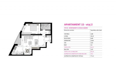 Apartament 15 - Aviatorii Residence II s003