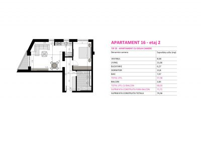 Apartament 16 - Aviatorii Residence II s006