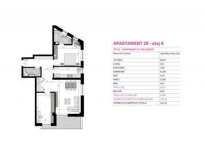 Apartament 28 - Aviatorii Residence II s001