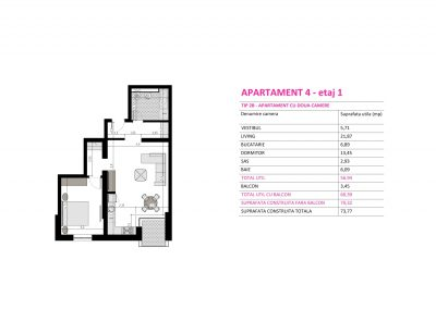 Apartament 4 - Aviatorii Residence II s016