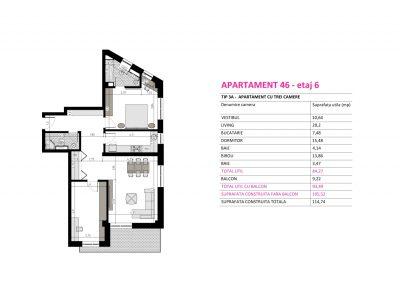 Apartament 46 - Aviatorii Residence II s015