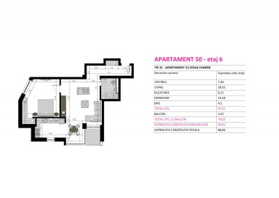 Apartament 50 - Aviatorii Residence II s008