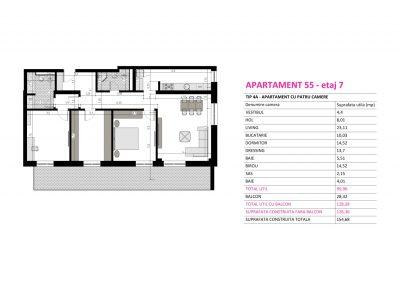 Apartament 55 - Aviatorii Residence II s011