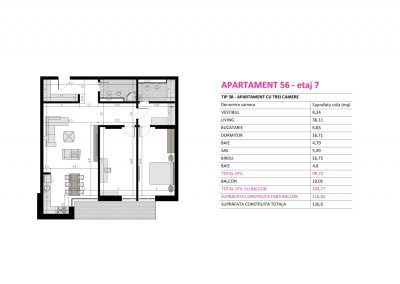 Apartament 56 - Aviatorii Residence II s007