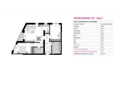 Apartament 59 - Aviatorii Residence II s005