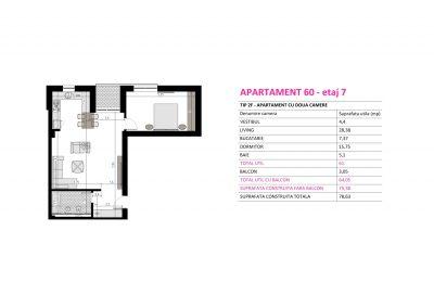 Apartament 60 - Aviatorii Residence II s003