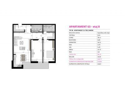 Apartament 63 - Aviatorii Residence II s003