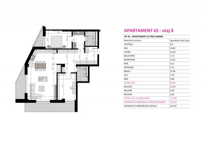 Apartament 65 - Aviatorii Residence II s006