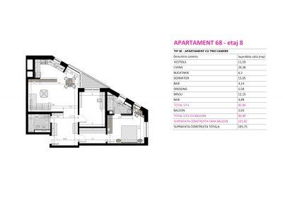 Apartament 68 - Aviatorii Residence II s012