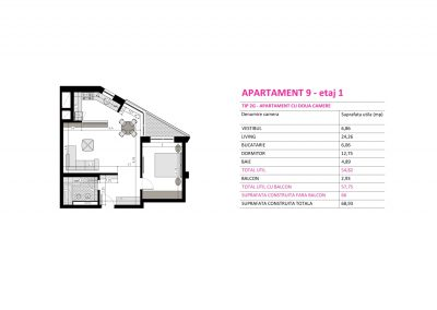 Apartament 9 - Aviatorii Residence II s002