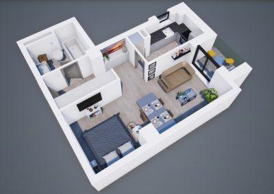 3D corp A Tip 1A 002 - Aviatorii Residence III