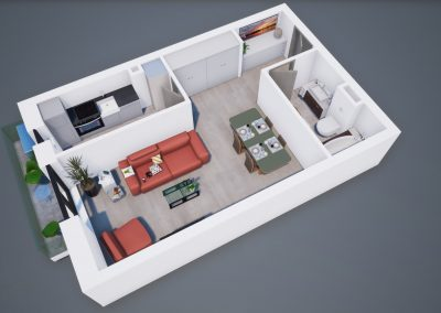 3D corp A apt tip 1B 001 - Aviatoarii Residence III