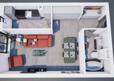 3D corp A apt tip 1B 003 - Aviatorii Residence III