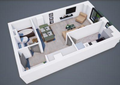 3D corp A apt tip 1C 002 - Aviatorii Residence