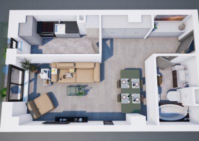 3D corp A apt tip 1C 003 - Aviatorii Residence