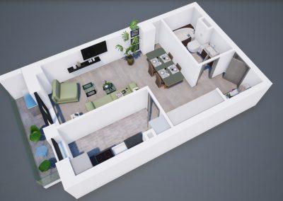 3D corp A apt tip 1D 001 - Aviatorii Residence III