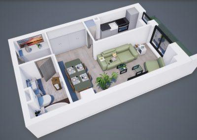 3D corp A apt tip 1D 002 - Aviatorii Residence III