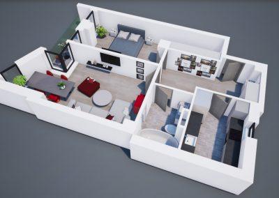 3D corp A apt tip 2A 002 - Aviatorii Residence