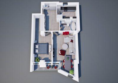3D corp A apt tip 2A 003 - Aviatorii Residence