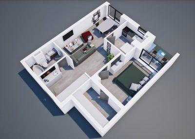 3D corp A apt tip 2B 001 - Aviatorii Residence