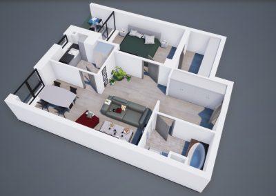 3D corp A apt tip 2B 002 - Aviatorii Residence