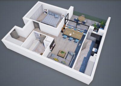 3D corp A apt tip 2C 001 - Aviatorii Residence