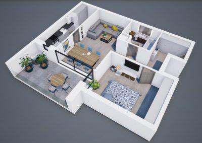 3D corp A apt tip 2C 002 - Aviatorii Residence