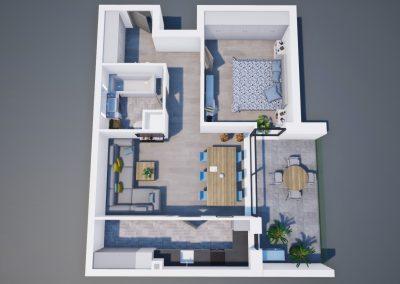 3D corp A apt tip 2C 003 - Aviatorii Residence