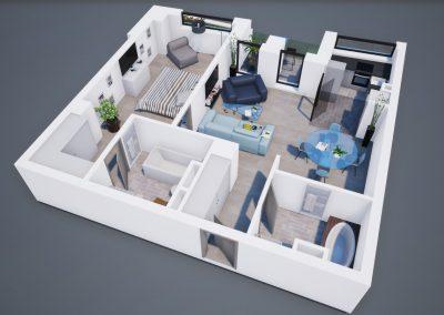 3D corp A apt tip 2D 001 - Aviatorii Residence
