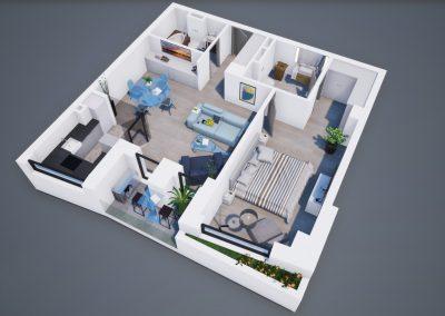 3D corp A apt tip 2D 002 - Aviatorii Residence