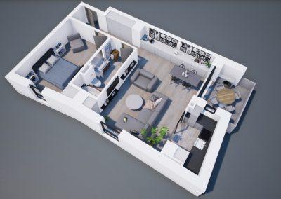 3D corp A apt tip 2E 001 - Aviatorii Residence