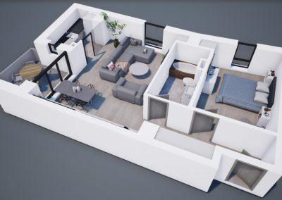 3D corp A apt tip 2E 002 - Aviatorii Residence