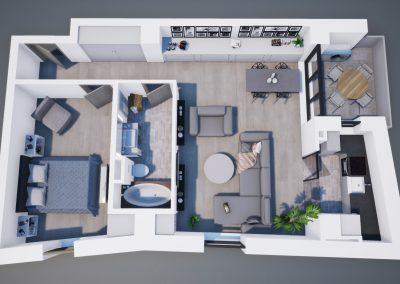 3D corp A apt tip 2E 003 - Aviatorii Residence