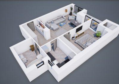 3D corp A apt tip 2F 001 - Aviatorii Residence