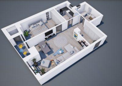 3D corp A apt tip 2F 002 - Aviatorii Residence