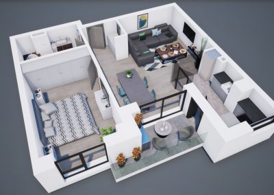 - Aviatorii Residence3D corp A apt tip 2G 002